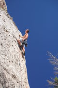Rock Climbing Photo: Past the hard stuff.  Photo by Annette M.