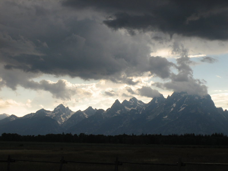 Tetons at night...