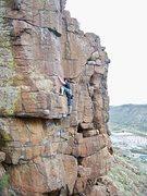 Rock Climbing Photo: Gotta love the high step