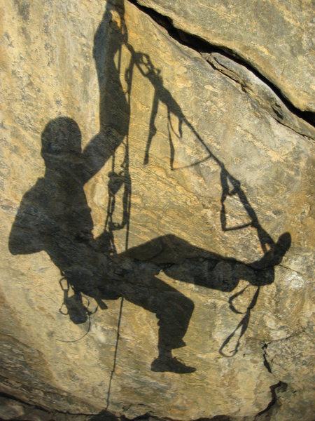 Rock Climbing Photo: sunset self-caricature
