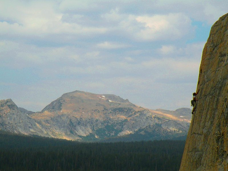 Rock Climbing Photo: Climber on the last pitch of crying time again