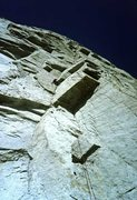 Rock Climbing Photo: Looking up pitch 1 on first ascent. Urmas, hard to...