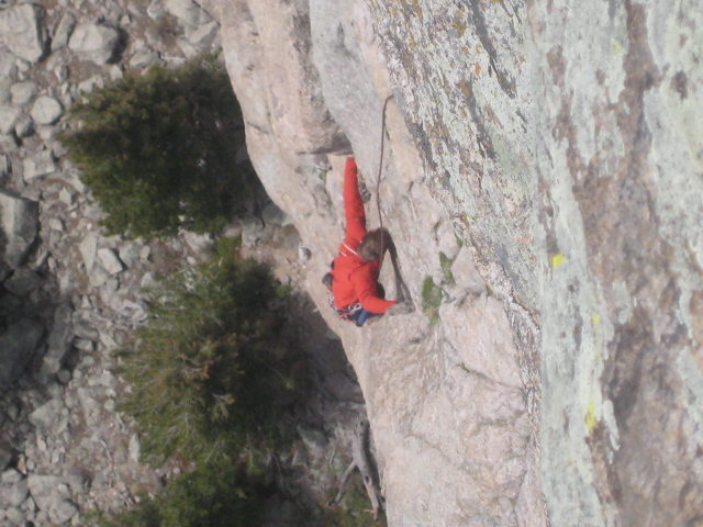 Rock Climbing Photo: crux of mainliner
