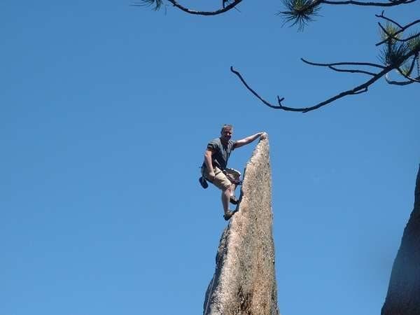 Rock Climbing Photo: Classic climb called Gossamer in the monster area ...