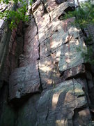 Rock Climbing Photo: Dippy Diagonal is the clearly defined crack in the...