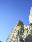 Rock Climbing Photo: Ryan Crochiere high on the arete on the super runo...