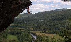 Rock Climbing Photo: Sam Todzia just sticking to the desperate upper pu...