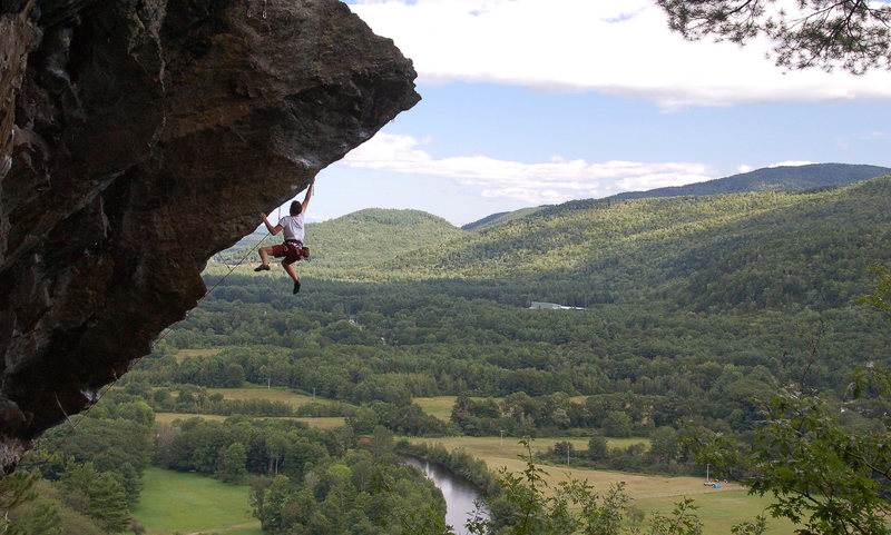 Rock Climbing Photo: Ladd flashing the dyno