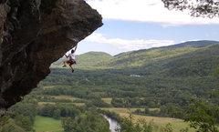 Rock Climbing Photo: Ladd flashing the dyno