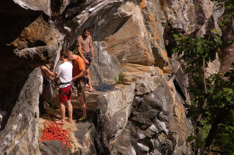 Rock Climbing Photo: The ledge on top of Tropicana. The rightmost climb...