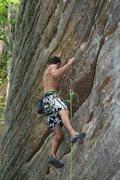 Rock Climbing Photo: Makin Bacon 5.10d