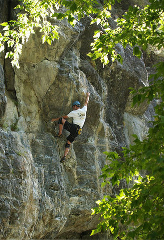 Rock Climbing Photo: Kip on Route 66. Photo by Perin B.