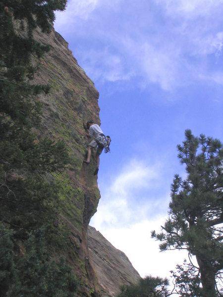 Rock Climbing Photo: CT making P1 look like 5.9.
