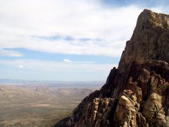 Rock Climbing Photo: View from near the summit on Solar Slab, Red Rock,...