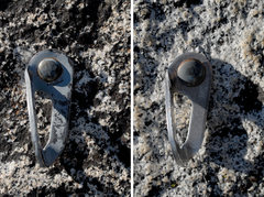 Rock Climbing Photo: Many of the bolts at Dome Rock are button-head com...