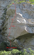 "Rock Climbing Photo: The Duomo wall with the route ""Above the Hear..."