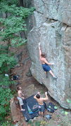 Rock Climbing Photo: Vince getting it done