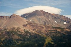 Rock Climbing Photo: Mt Shasta with a cloud cap taken from Black Butte