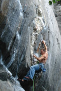 Rock Climbing Photo: Seth on his first trip up Aquarius...  i dont need...