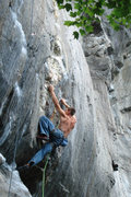 Rock Climbing Photo: One more of seth working out the crux of Aquarius....