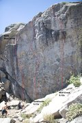 Rock Climbing Photo: Goldilocks Wall Leftside Topo