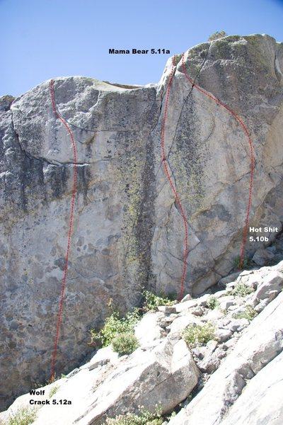 Rock Climbing Photo: Goldilocks Wall Center Topo