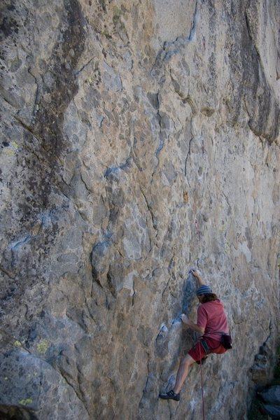 Rock Climbing Photo: The starting moves on Goldilocks, 5.11a