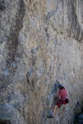 Rock Climbing Photo: The starting moves on Goldilocks, 5.11a