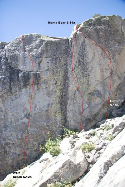Wolf Crack Topo, 5.12a