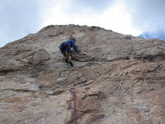 Rock Climbing Photo: The easier 2nd pitch of Biaxident about 5.6 and ea...