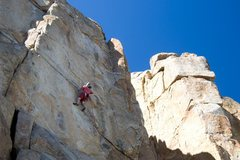 Rock Climbing Photo: Making the most of the hollow sounding holds on Hi...