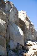 Rock Climbing Photo: Setting up for the crux on Hit and Run, 5.11b