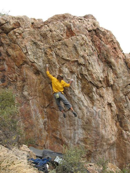 Rock Climbing Photo: The Insult, sloppy feet action!