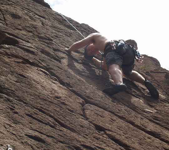 Rock Climbing Photo: a Hot summer day in Queen Creek Canyon (Atlantis)