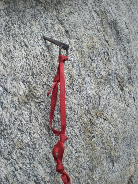 Rock Climbing Photo: Pin at the top of the second pitch; I'd say it cou...