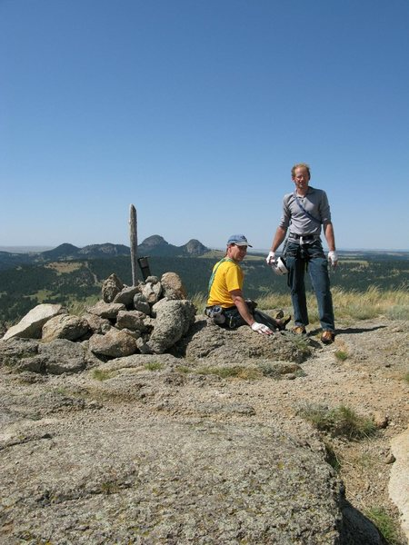 Rock Climbing Photo: Rodger and I at the summit on a warm August aftern...