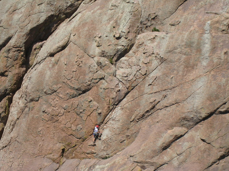 "Rock Climbing Photo: It's obvious why the route is called ""Chicken..."