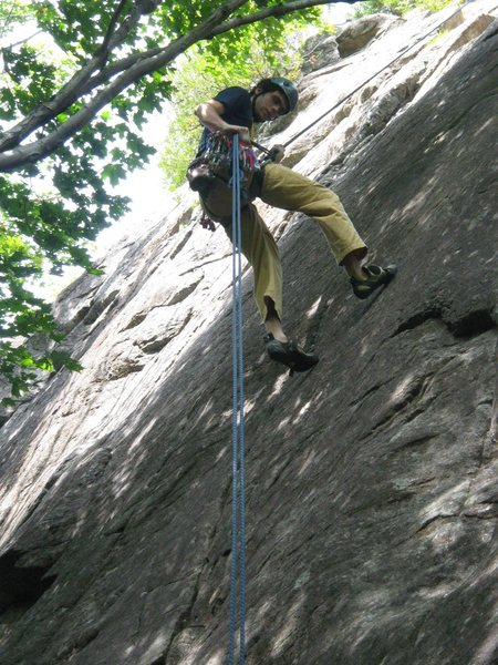Rock Climbing Photo: rapping off after leading this classic route