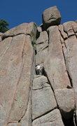 Rock Climbing Photo: Jeff Young half way up.