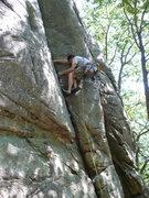 Rock Climbing Photo: John Knoernschild starting off the lead on Wobbly ...