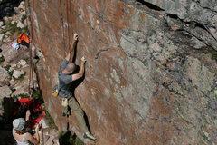 Rock Climbing Photo: Thin and Crimpy start.