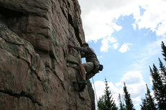 Rock Climbing Photo: Jason in between the first and second bolts.  Grea...