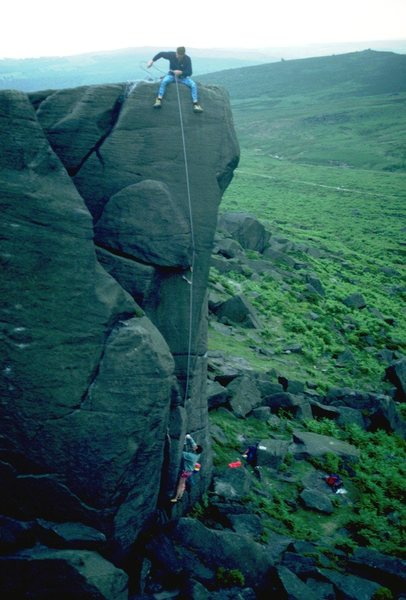 Rock Climbing Photo: Climbers on Tower Crack, 5.9