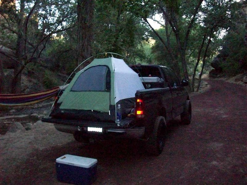Easy camping with climbing right there by the truck and EVERYWHERE!