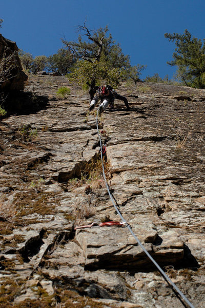 Rock Climbing Photo: Sorry...not the best picture of the first pitch of...