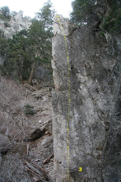 Rock Climbing Photo: 3 Buried Treasure 5.10a