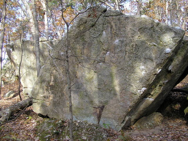 Rock Climbing Photo: Follow the obvious chalk marks on the arete and th...