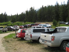 Rock Climbing Photo: Any given Saturday at the Big Sandy Parking Lot.