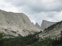 Rock Climbing Photo: East Temple Steeple Peak and Haystack Mountain
