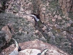Rock Climbing Photo: top of Dacite Conspiracy